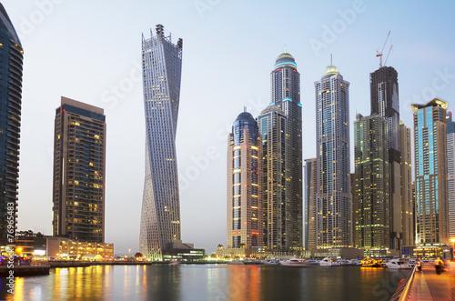 Obraz Обьединённые Арабские Эмираты. Набережная Дубая. - fototapety do salonu