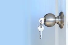 Open Door With Keys Of House