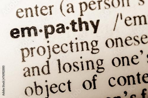 Fotografia  word empathy