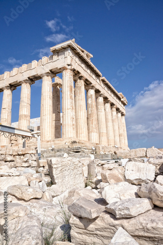 Fotobehang Athene Parthenon temple on the Acropolis of Athens,Greece