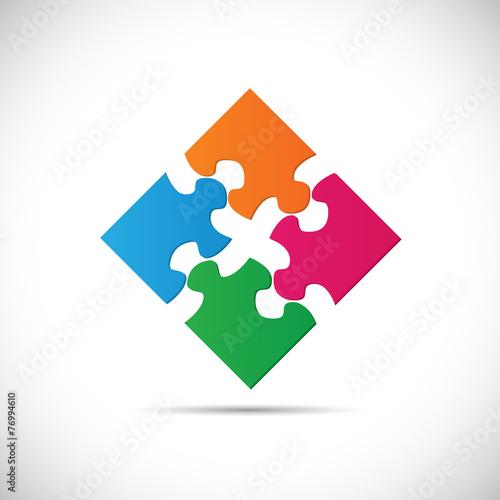 Fotografie, Obraz  Puzzle Illustration