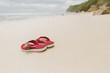 Flipflops on beach, Bali, Indonesia
