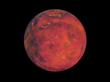 Red Planet In Space On A Black...