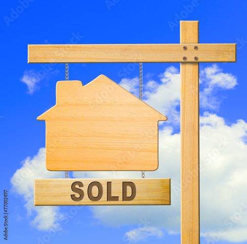 Real estate sign.