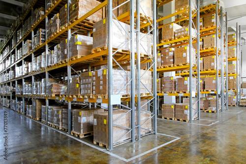 Poster Industrial geb. Storehouse shelves