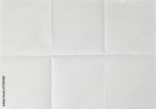 Fotografiet white sheet of paper folded