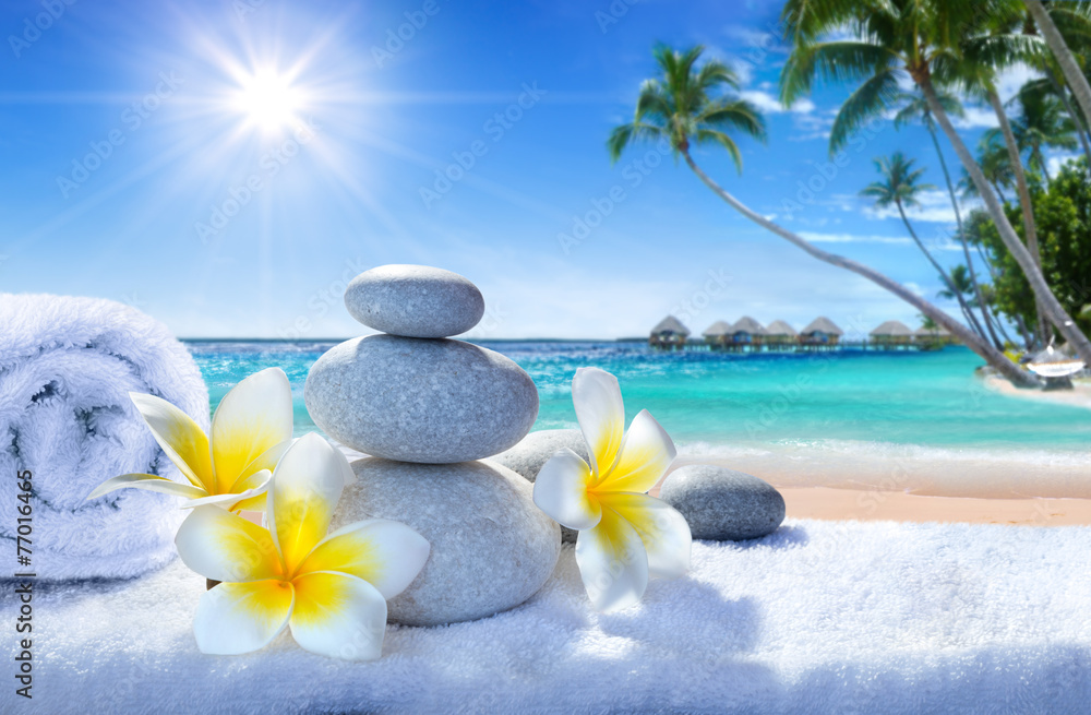Fototapeta spa treatment on tropical beach
