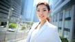 American Asian Japanese Girl Corporate Business Financial Executive