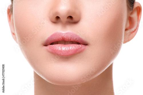 Fotografie, Obraz  Beautiful pink lips