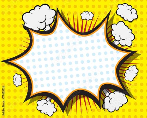 Fotografie, Obraz  Comic Book Speech Bubble
