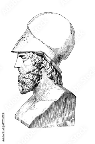 Fotografia, Obraz Victorian engraving of a  bust of Themistocles