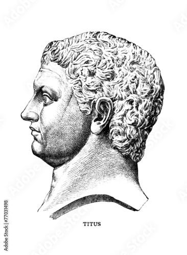 Photo Victorian engraving of the Roman emperor Titus