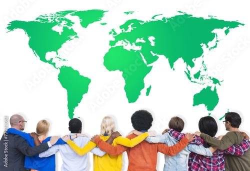 Fotografie, Obraz  Green Podnikatelské prostředí Global Conservation Concept