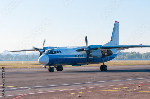 Fotografia, Obraz  Turboprop airliner for small and medium lines