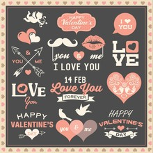 Valentine's Day Labels, Icons ...