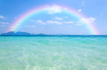 Colorful Rainbow Over A Tropic...