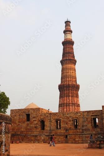 Stickers pour porte Delhi Qutb Minar 2nd tallest minar in Delhi