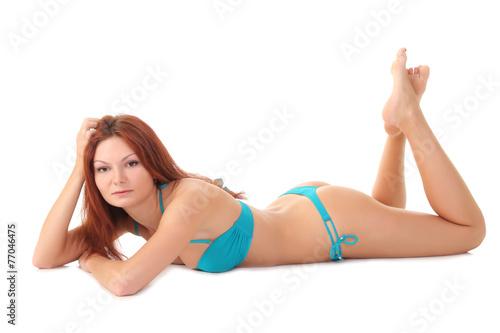 Fototapeta sexy hot woman in lingerie obraz na płótnie