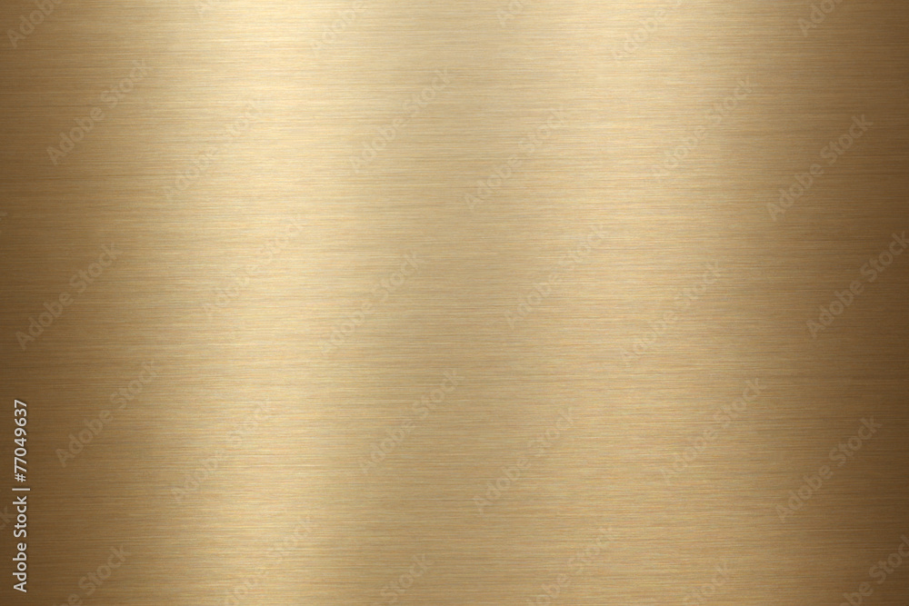 Fototapety, obrazy: Brushed gold metal background texture