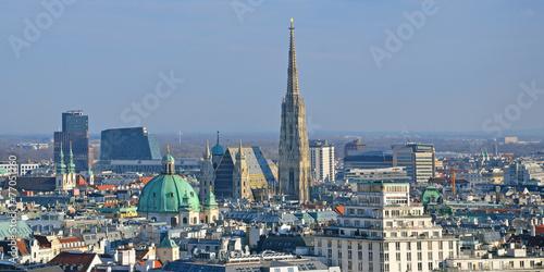 Spoed Fotobehang Wenen panorama wien