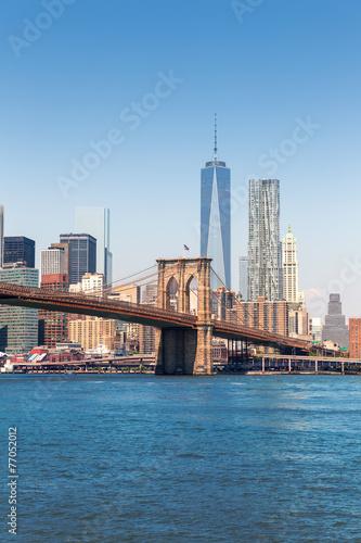 Foto op Aluminium New York Brooklyn Bridge and Manhattan skyline New York