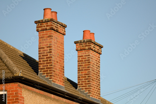 Fotografija Victorian house chimney stacks