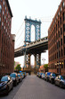 Manhattan Bridge New York NY NYC from Brooklyn