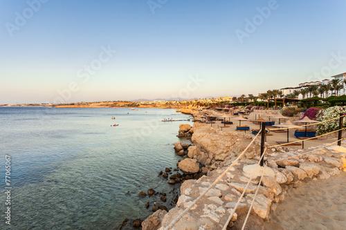 Tuinposter Egypte Sunrise and beach