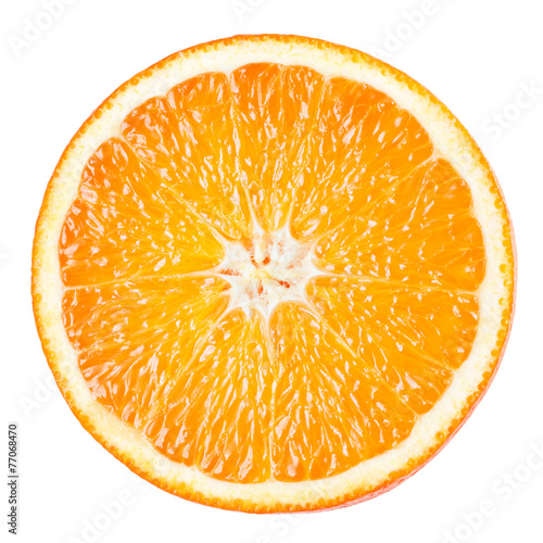 Foto op Aluminium Vruchten Orange slice isolated on white background