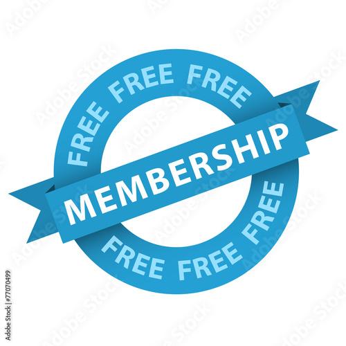 "Fotografía  ""Free Membership"" stamp (vector sign up now register)"