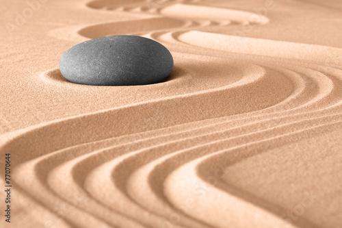 Acrylic Prints Stones in Sand zen garden meditation background