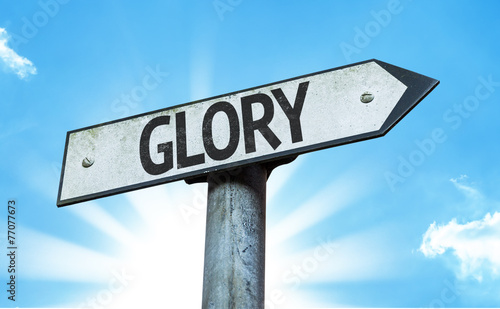 Fotografie, Tablou  Glory sign with a beautiful day