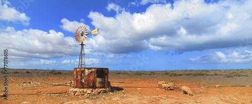 Printed kitchen splashbacks Australia wind wheel at Gnaraloo Station, West Australia