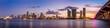 canvas print picture - Miami city skyline panorama at twilight