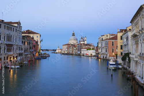 Fototapety, obrazy: View of the Grand Canal and Basilica Santa Maria della Salute