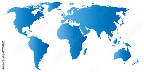 In de dag Wereldkaart Carte du monde