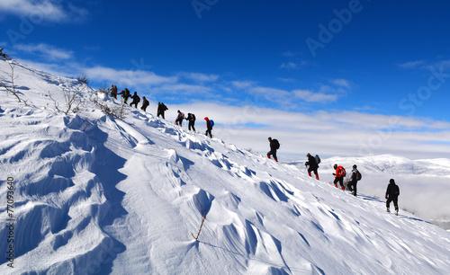 Poster de jardin Alpinisme dağcılık etkinliği&dağ sevgisi