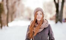 Beautiful Redhead Woman In Gre...