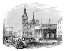Victorian Engraving Of Aberdeen, Scotland