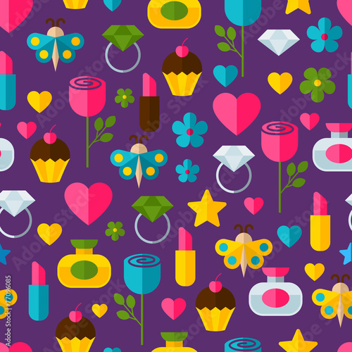 Cotton fabric Abstract colorful gifts seamless pattern. Birthday, Valentines,