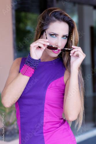 Fotografie, Obraz  Purple eyes