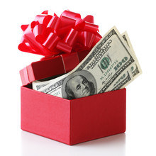 Bundle Of Dollars In Present B...
