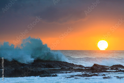 Printed kitchen splashbacks Australia Sunrise at flat rock