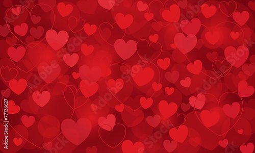 Fotografie, Obraz  heart, vector background