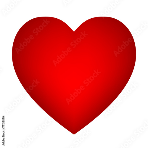 Photo Vector red heart