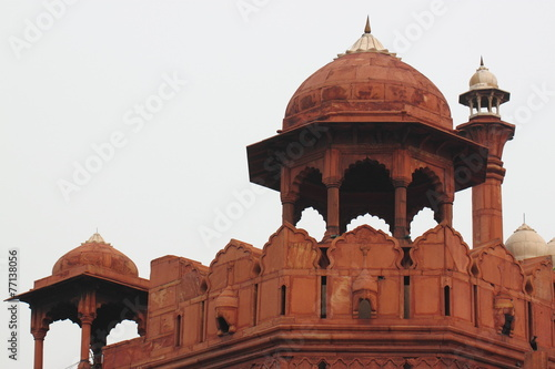 The Red Fort was the residence of the Mughal emperors of India
