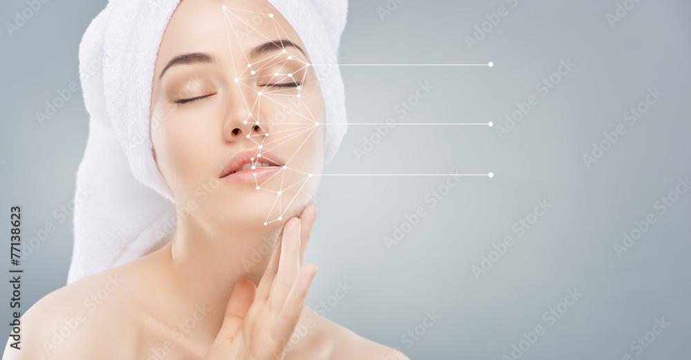 Fototapety, obrazy: applying cosmetic cream