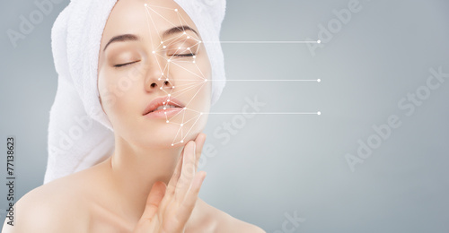 Fotografie, Obraz  applying cosmetic cream