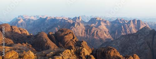 Obraz na płótnie View from Moses Mountain Sinai. Egypt.