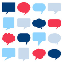 Empty Speech Bubbles Icons Set...